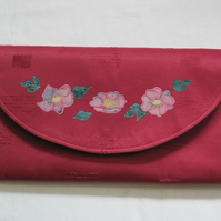 Red envelope style clutch bag