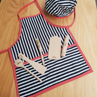 Apron & Chef Hat with utensils