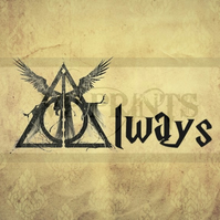 Harry Potter Inspired 'Always' Valentines A5  birthday card