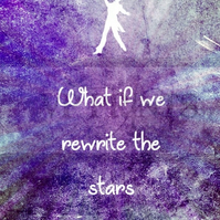 The Greatest Showman movie Inspired 'Rewrite the Stars' poster A4 purple
