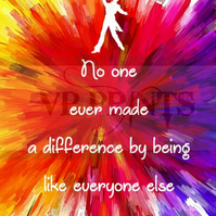 The Greatest Showman movie Inspired 'made a difference, different' poster A4