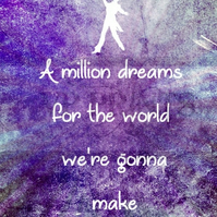 The Greatest Showman Inspired 'A million dreams' A6 valentines birthday card