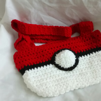 Pokemon Inspired Crocheted Hand bag with Shoulder Strap