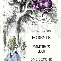 Alice In Wonderland How Long Is Forever Pop Art Quote print poster A3