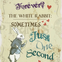 Alice In Wonderland 'How Long Is Forever?' Quote print poster A3