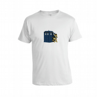 My Little Pony Dr Who Tardis Inspired Loose Fit Uni sex T Shirt