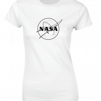 NASA Logo Space geek Astronomy Woman's Fitted T Shirt
