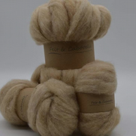 Carded Corriedale Fawn 100g