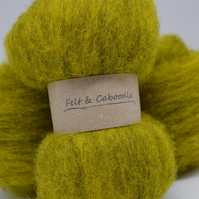 Carded Corriedale wool Meadow mix
