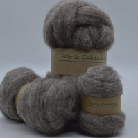 Carded Corriedale Squirrel 100g