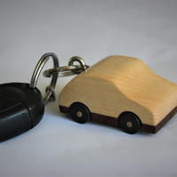 Wooden Car Key ring made from maple.