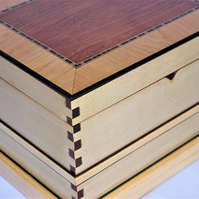 Decorative wooden Jewellery or keepsake box