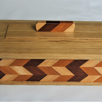 Wooden Trinket Box Zig Zag Effect.