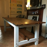 Rustic hand built dining table.