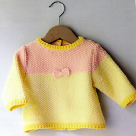Baby Sweater With Bow Pattern, Digital PDF Download