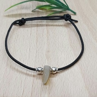Premium Seaham sea glass friendship bracelet.