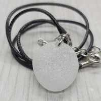 Genuine Seaham sea glass pendant.