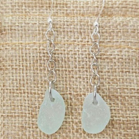 Sea glass earrings.