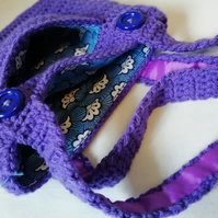 Purple Crochet Tote Bag