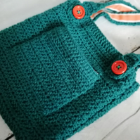 Teal and Orange Foxy Tote