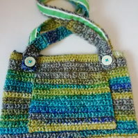 Green Crochet Foxy Handbag