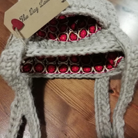Beige Vintage Wool Crochet Bag