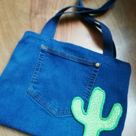 Recycled Denim Cactus Bag