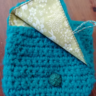 Green Glitter Crochet Purse