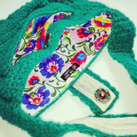 Glitter Green Crochet Handbag