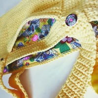 Summer Yellow Sugar Skulls Handbag