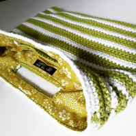 Spring Green Striped Handbag