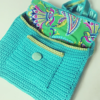Sea Blue Crochet Box Satchel