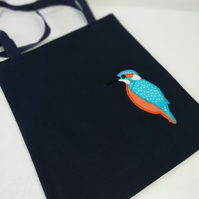 Applique Kingfisher Tote Bag