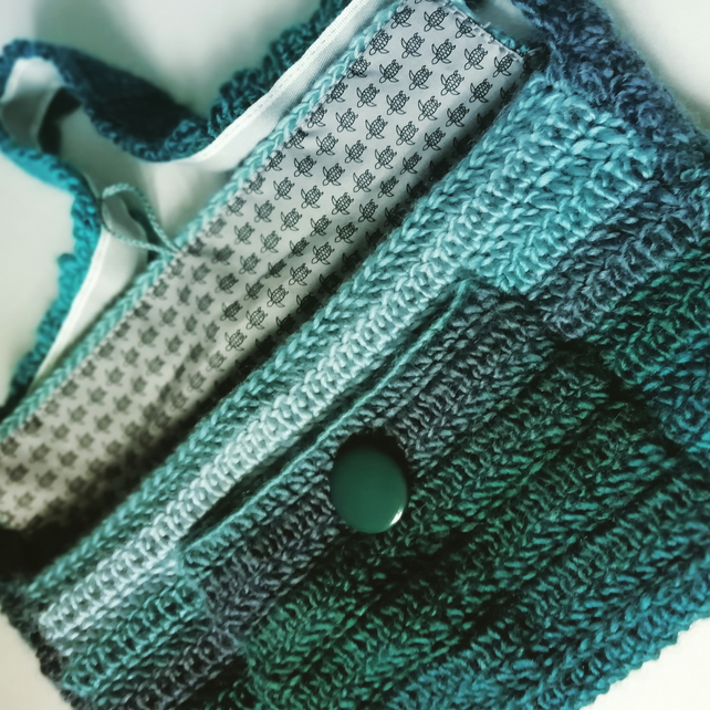 Shimmer Crochet Turtle Bag