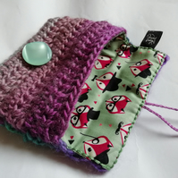 Purple Foxy Coin Purse