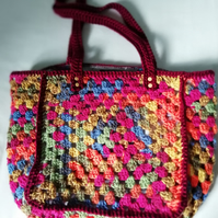 Granny Square Autumnal Bag