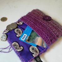 Purple Paisley Coin Purse