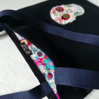 Appliqué Sugar Skull Tote Bag