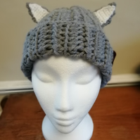 Crochet Wolf Ears Hat