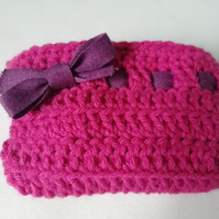 Pink Crochet Makeup Case