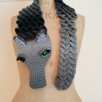 Grey Dragon Scarf