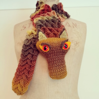 Brown Dragon Scarf