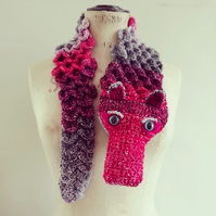 Sparkly Red Dragon Scarf