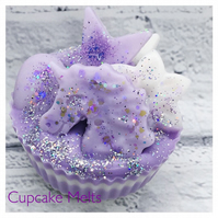 WAX MELT CUPCAKE GIFT BOXED - GLITTER UNICORN - VEGAN FRIENDLY