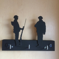 2 Soldiers on a Key Rack