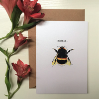 Bumblebee Illustrated Greeting Card