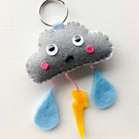 Sad cloud keyring