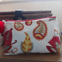 Exotic Flowers Cosmetic Bag