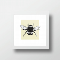 Bumbe bee framed print