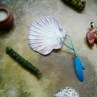 Smudge Shell - natural ocean smudging herbs incense yogi pagan shaman witch